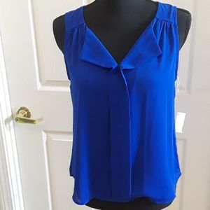 E & M blue rayon blouse. Size S